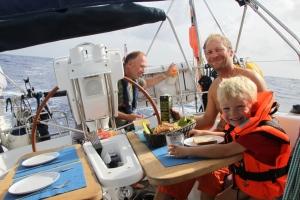 Livet på skrå..... frokost ombord