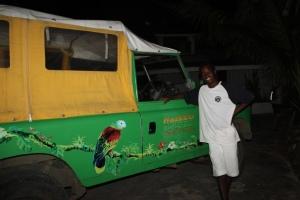 Taxi tilbake fra Chatham Bay til Clifton