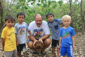 Landskilpadder på Mustique