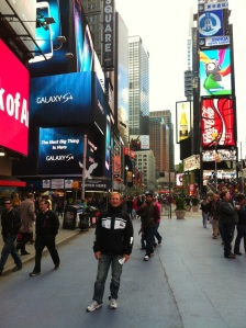 Bjørn Arne på Time Square, New York