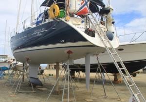 Båten får ny bunnsmøring, Spanish town, Virgin Gorda