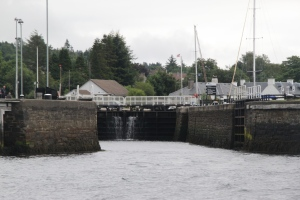 Sea-locken inn til Corpach Basin